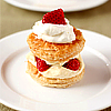 a Strawberry and Cream Cake