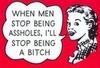 When men stop being...
