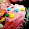 a Star Sprinkled Cupcake