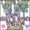 you make me smile<3