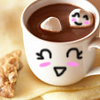 smiling hot chocolate ♥