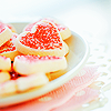 *Heart shape cookies*