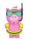a little dip with piggy